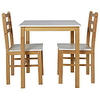 Lily Two Tone Dining Table & 2 Matching Chairs.