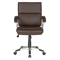 Rochester Mid-Back Office Chair – Brown