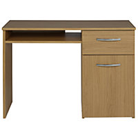 Hayward Office Desk - Oak Effect.
