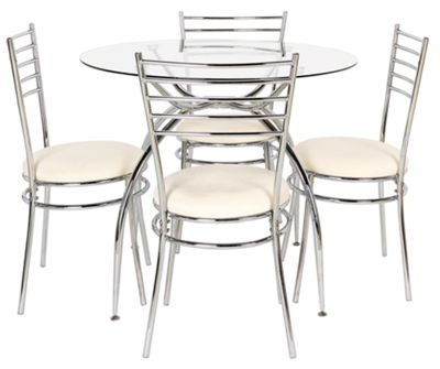 Lusi Glass Dining Table and 4 White Chairs : 359121RZ001largeampwid800amphei800 from bedbod.uk size 800 x 800 jpeg 50kB