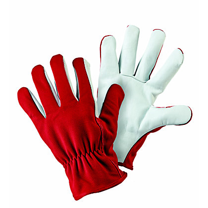Image for Lined Dual Red Gardening Gloves - Medium from StoreName