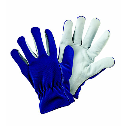 Image for Lined Dual Blue Gardening Gloves - Large from StoreName