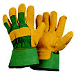 Mens Suede Rigger Green Gardening Gloves - Extra Large