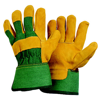 Image for Mens Suede Rigger Green Gardening Gloves - Extra Large from StoreName
