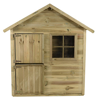Image for Forest Pressure Treated Wooden Playhouse - 4x4ft from StoreName