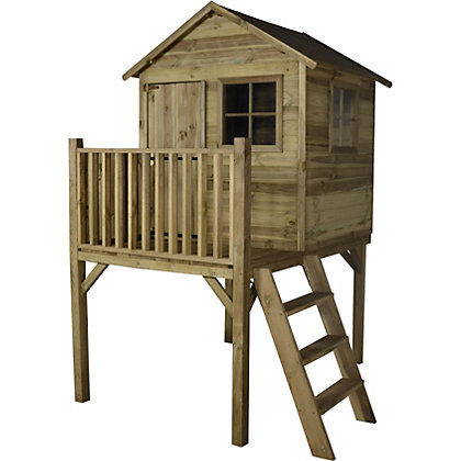 Image for Forest Pressure Treated Wooden Platform Playhouse - 4x4ft from StoreName