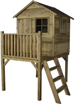 Forest Pressure Treated Wooden Platform Playhouse - 4x4ft