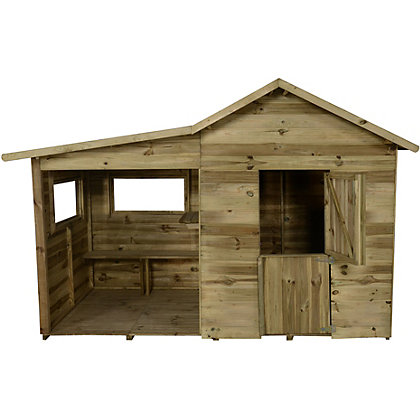 Image for Forest Pressure Treated Wooden Playhouse with Veranda - 8x4ft from StoreName