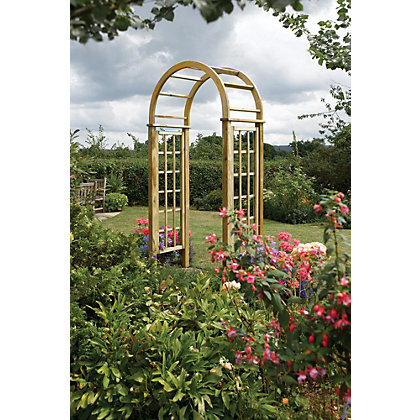 Image for Rowlinson Round Top Wooden Arch from StoreName