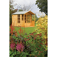 Rowlinson Arley Wooden Summer House - 6ft 11in x 9ft 11in