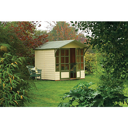 Image for Rowlinson Eaton Wooden Summer House - 6ft 11in x 8ft 7in from StoreName