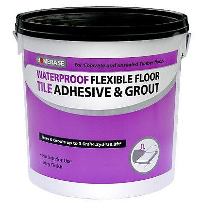Homebase Floor Adhesive Amp Grout Concrete Grey 10l