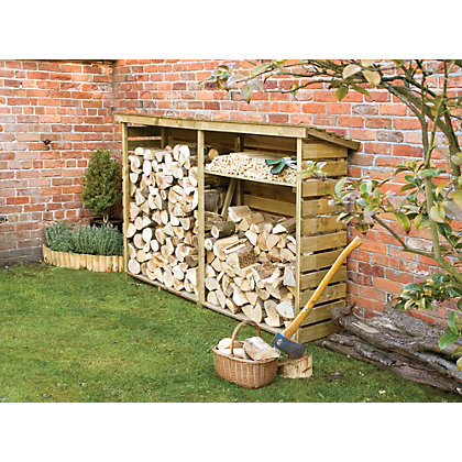 Image for Rowlinson Large Wooden Log Store from StoreName