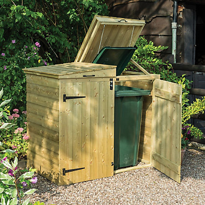 Image for Rowlinson Garden Apex Wooden Bin Store from StoreName