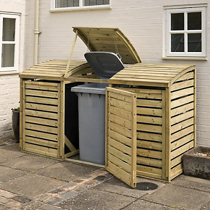 Image for Rowlinson Wooden Triple Bin Store from StoreName