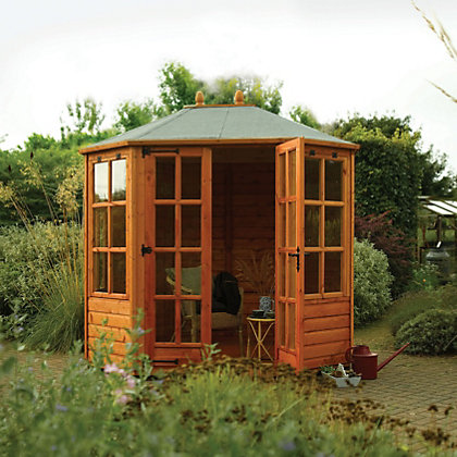 Image for Rowlinson Ryton Octagonal Wooden Summer House - 8ft 1in x 6ft 4in from StoreName