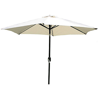 Image for Charles Bentley Metal Parasol with Crank & Tilt in Beige - 2.7M from StoreName