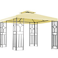 Charles Bentley Steel Gazebo in Cream - 3x3M