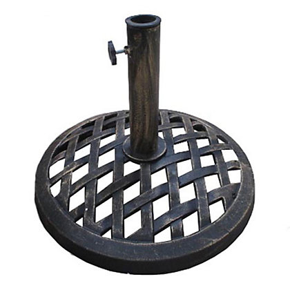 Image for Charles Bentley 9Kg Cast Iron Round Parasol Base - Lattice Design from StoreName