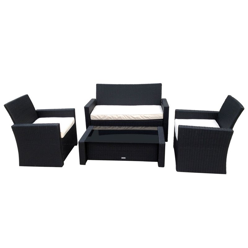 Rattan Garden Sofa Set Black These Contemporary Rattan Furniture Sets