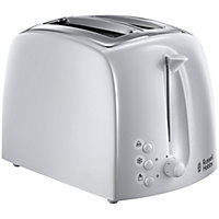 Russell Hobbs Textures 2 Slice Toaster - White.