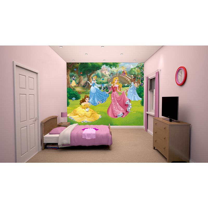 Walltastic new disney frozen wall mural for Barbie princess giant wall mural