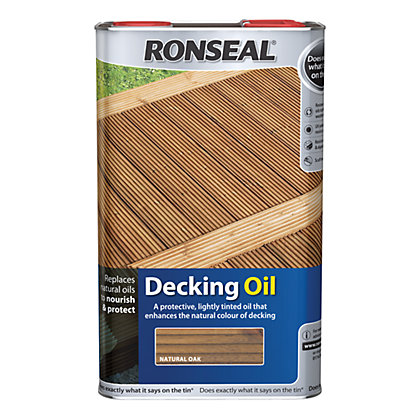 Image for Ronseal Decking Oil Natural Oak - 5L from StoreName