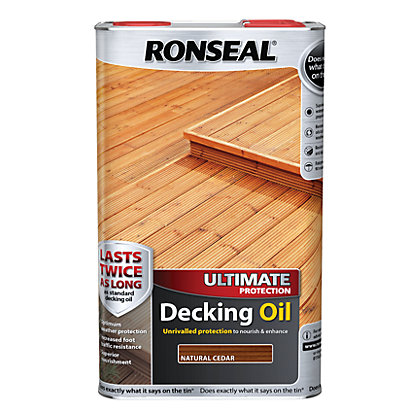 Image for Ronseal Ultimate Protection Decking Oil Natural Cedar - 5L from StoreName
