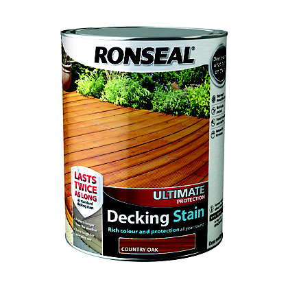 Image for Ronseal Ultimate Protection Decking Stain Country Oak - 5L from StoreName