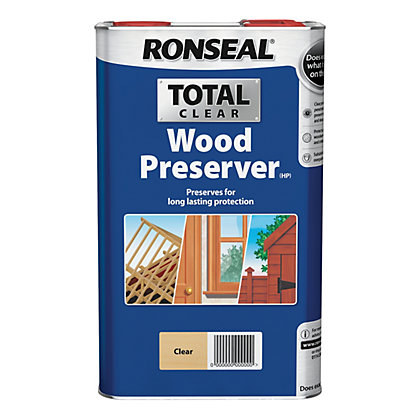 Image for Ronseal Total Wood Preserver -  Clear - 5L from StoreName
