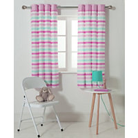 Chad Valley Stripe Eyelet Lined Curtains.
