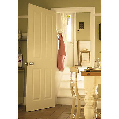 Image for London 4 Panel Pre-Painted White Internal Door - 762mm Wide from StoreName