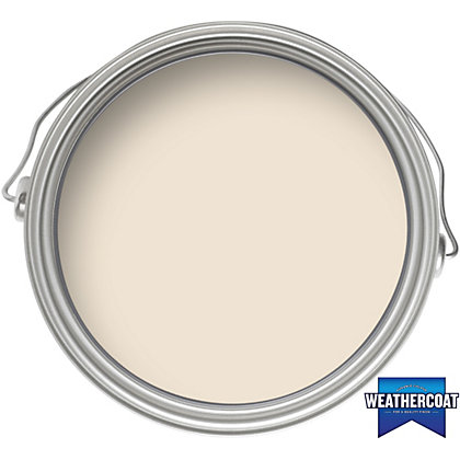 Image for Homebase Weathercoat Clotted Cream - Exterior Satin Paint - 750ml from StoreName