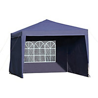 Pop-up Garden Gazebo with Side Panels.