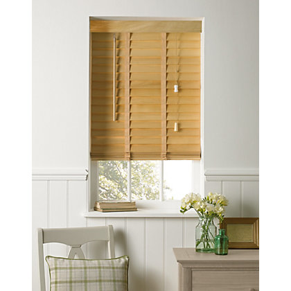 Image for Elliott Natural Wooden 50mm Venetian Blind - 90cm from StoreName