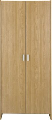 New Capella 2 Door Wardrobe - Oak Effect.