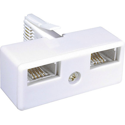 Image for Homebase - Telephone Double Adaptor from StoreName