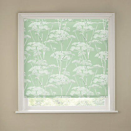 Image for Duck Egg Cow Parsley Print Blackout Blind - 120cm from StoreName