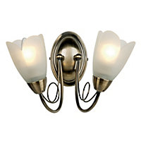 Tulip Wall Light - Antique Brass