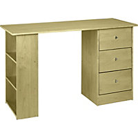 New Malibu 3 Drawer Desk - Maple Effect.