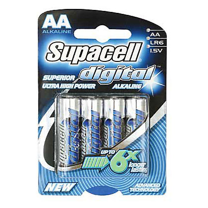 Image for Supacell Digital AA Batteries - 4 Pack from StoreName