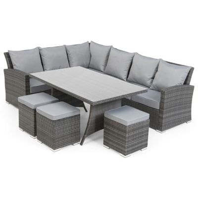 Grey rattan furniture for Outdoor furniture homebase