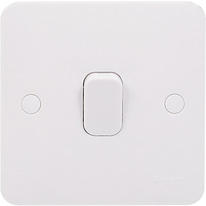 Image for Schneider Electric Lisse GGBL1011S single 10AX plate switch from StoreName