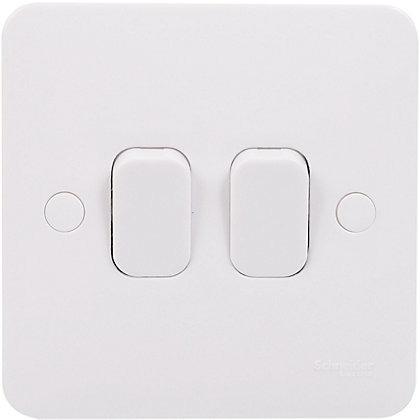 Image for Schneider Electric Lisse GGBL1022S double 10AX light switch from StoreName