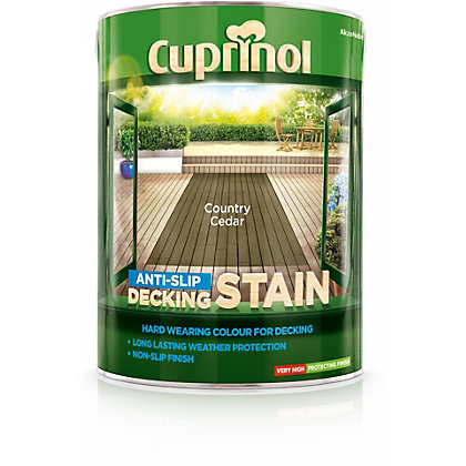 Image for Cuprinol Anti-Slip Decking Stain Country Cedar - 5L from StoreName