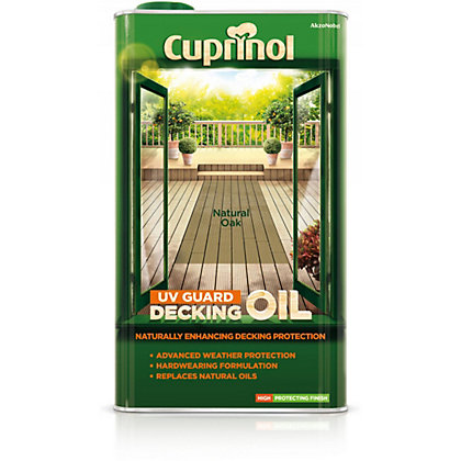 Image for Cuprinol UV Guard Decking Oil Natural Oak - 5L from StoreName