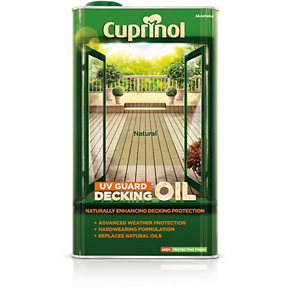Image for Cuprinol UV Guard Decking Oil Natural - 5L from StoreName