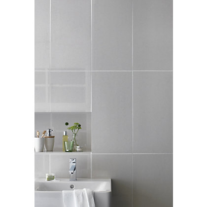 Image for White Polished Porcelain Wall & Floor Tiles - 300 x 600mm - 5 pack from StoreName