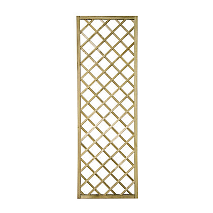 Image for Forest Hidcote Framed Wooden Lattice - 0.6x1.8m from StoreName
