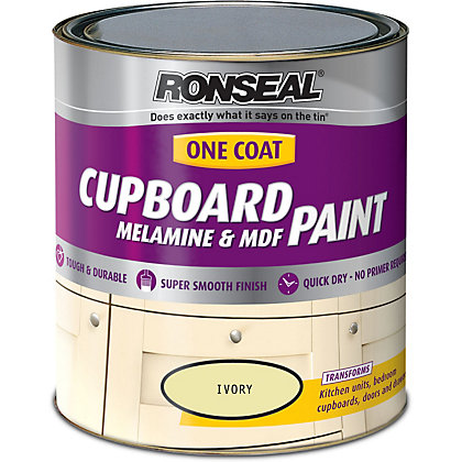 Image for Ronseal Ivory - One Coat Cupboard Paint - 750ml from StoreName